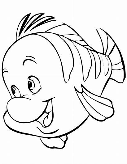 Mermaid Coloring Pages Clipartpanda Flounder Cartoon Clipart