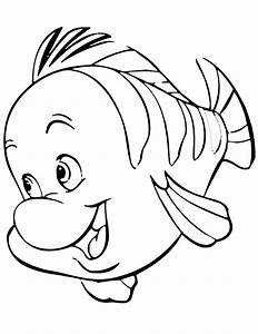 flounder ariel and sebastian coloring pages activity ...