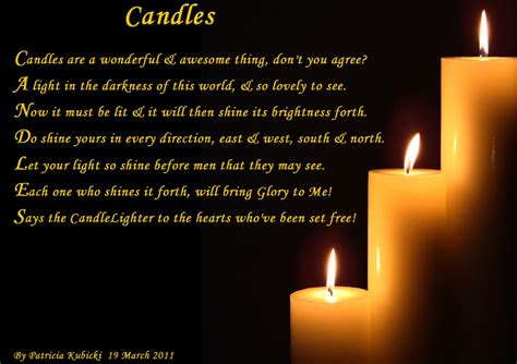 Gedicht Kerze Licht by Candles Spiritual Poetry