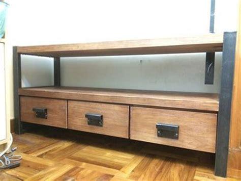 meuble en bois et fer forge
