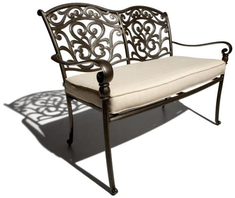 strathwood patio furniture cushions strathwood st aluminum 2 seater loveseat with seat