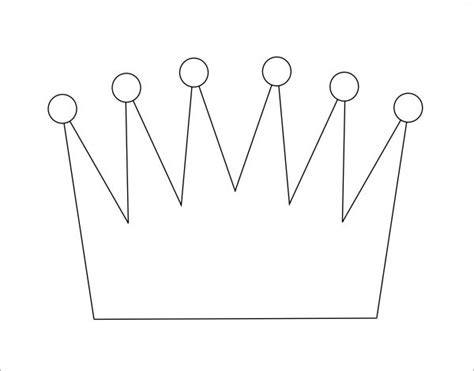 prince crown template 11 crown sles pdf sle templates