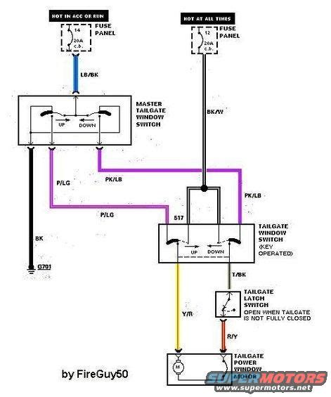 2 Way Gm Window Switch Wiring Diagram by 1988 Ford Bronco Tailgate Diagram Pictures And