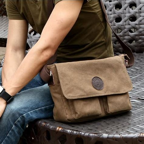 fashion men canvas bag casual vintage messenger bag shoulder bags  man cheap handbags