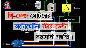 Star Delta Starter Animation Connection Diagram Explained In Bangla