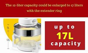 17l Halogen Oven Turbo Low Fat Roaster Convection Cooker