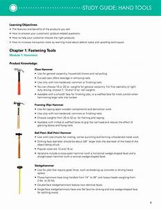 Study Guide  Hand Tools