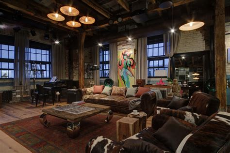 Industrial Bachelor Pad Loft Design In Russian Home