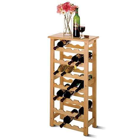 floor wine rack palermo 28 bottle floor standing wine rack