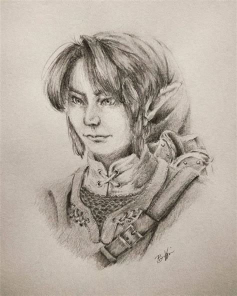 Semi Realistic Link Drawing Zelda Amino