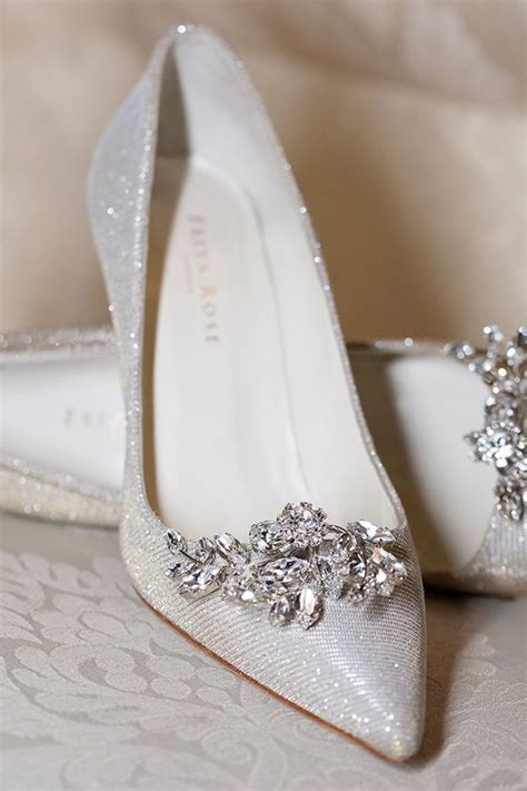 silver wedding shoes ideas  pinterest