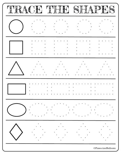 printable shapes worksheets coloring pages