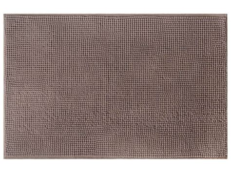 tapis de salle de bain 50x80 cm coloris taupe chez conforama