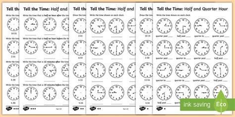 year 2 telling the time differentiated worksheet activity