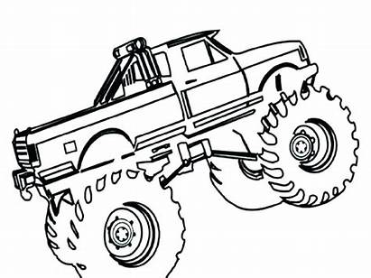 Tow Coloring Truck Pages Trucks Monster Printable