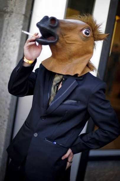 creepy horse mask pictures horse nation