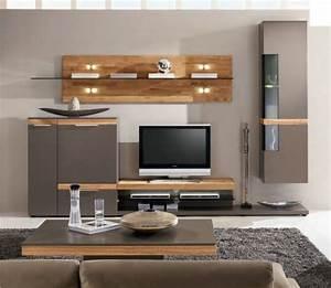 Moderne Wohnzimmer Schrankwand : wohnwand eiche catlitterplus ~ Markanthonyermac.com Haus und Dekorationen