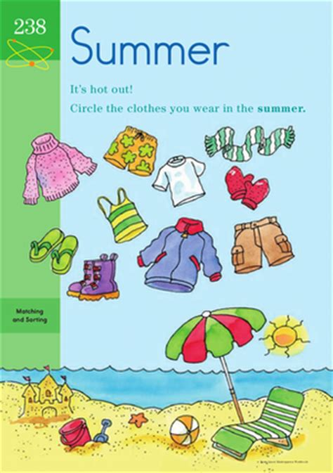 Nursery Rhymes Clothing by Suddenly Summer Learning About The Seasons Worksheet