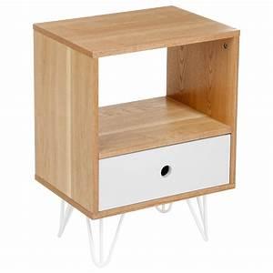 Table Chevet Grise : table de chevet unie grise shulg 1 tiroir atmosphera ~ Teatrodelosmanantiales.com Idées de Décoration