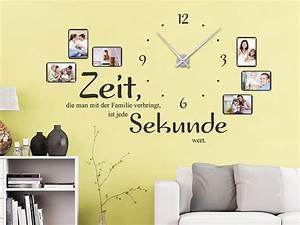 Wandtattoo Mit Bilderrahmen : wandtattoo uhr familienzeit mit fotorahmen wandtattoo de ~ Whattoseeinmadrid.com Haus und Dekorationen