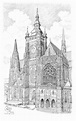 Prague cathedral of St. Vitus Drawing by Vlado Ondo