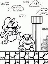 Coloring Arcade Printable Games Patrick Mario sketch template