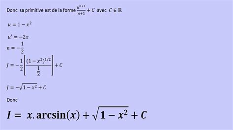 Integration De Arcsin(x) Dx
