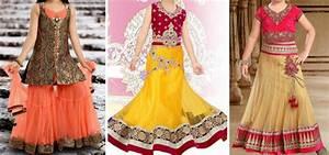 Sharara & Gharara Suit For Kids, Ghagra Choli Designs 2016