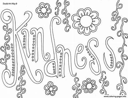 Kindness Coloring Word Pages Printable