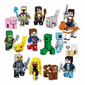 8PCS My World Minecraft Building Block Action Figures Toys
