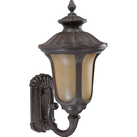 nuvo lighting one light large outdoor wall light