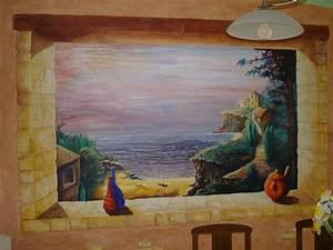 Tableau Trompe L Oeil Paysage : fin de journee marine at artiste peintre fresques trompe l 39 oeil dans l 39 yonne 89 ~ Melissatoandfro.com Idées de Décoration