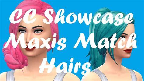the sims 4 cc showcase maxis match hair sims 4 cc