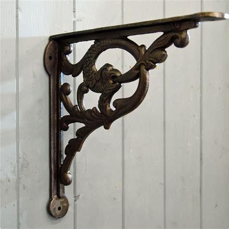decorative metal shelf brackets serpent decorative cast metal wall and shelf bracket