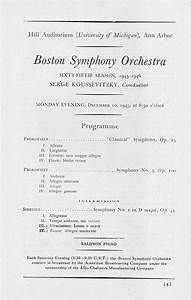 Ums Concert Program  December 10  Boston Symphony