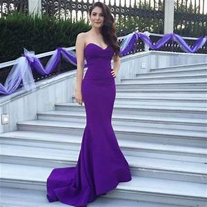 sexy long purple evening dress 2015 cheap elegant With mermaid dresses for wedding guest
