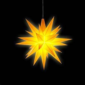 Herrnhuter Stern Beleuchtung : herrnhuter bastelstern a1b gelb kunststoff 13 cm von ~ Michelbontemps.com Haus und Dekorationen