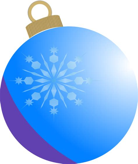 blue christmas ball ornament clip art at clker com