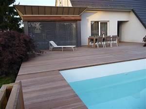 arkobois terrasse sur structure porteuse autour d39une With terrasse en bois autour d une piscine hors sol