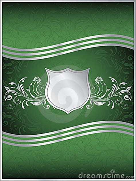 emerald green vector background template royalty