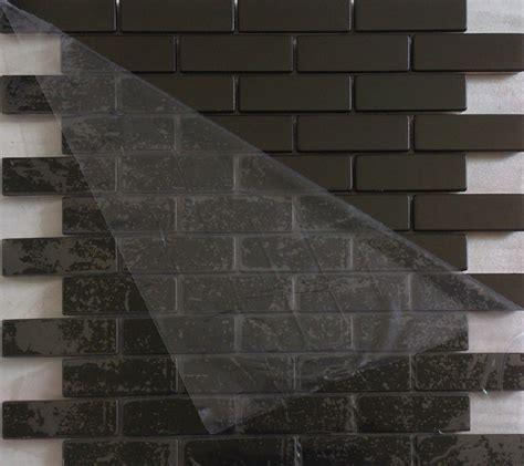 brushed black metal mosaic tiles smmt027 stainless steel