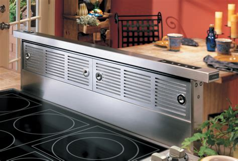 Kitchen Induction Cooktop With Downdraft Vent For Kitchen