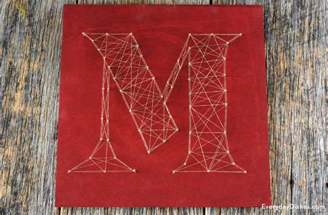 string art letters how to make string letters 24989 | string art letters everydaydishes com H