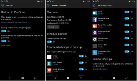 apps for windows mobile how to backup on windows 10 mobile tutorial