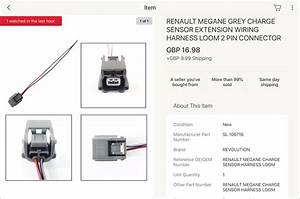 Renault Megane Grey Charge Sensor Extension Wiring Harness