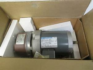 Marathon 56t17f5350 Electric Brake Motor 3ph 208 460v 3  4 Hp 5  8