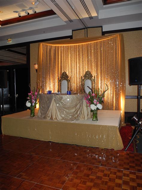 A Sweetheart Table Done With Traditional Indian Wedding