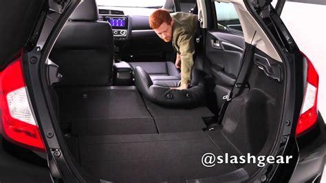 honda fit cargo  rear seat options youtube