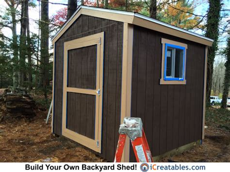 8x8 Storage Sheds by 8x8 Backyard Shed Plans Icreatables