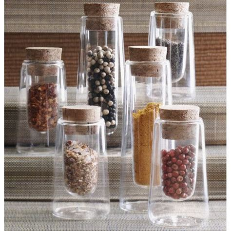 Kitchen Spice Jars Glass by Spice Jar With Clear Glass Sides Display Spices